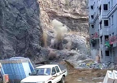 承德建筑工地二氧化碳爆破裂石头