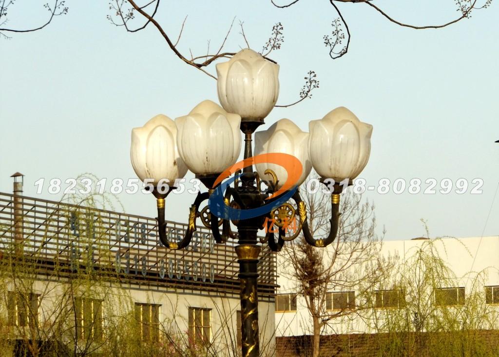 河北亿科公司翠柳掩映中的路灯